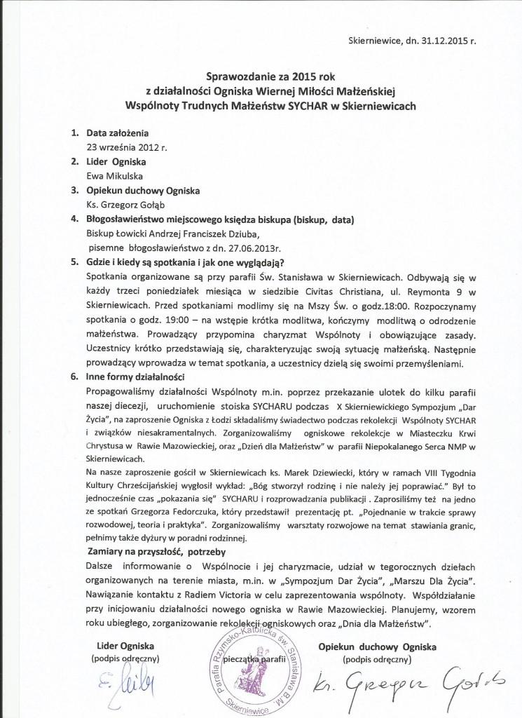 sprawozdanie skierniewice 2015